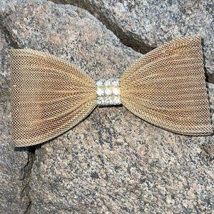 Kirks Folly Vintage Goldtone Rhinestone Hair Clip